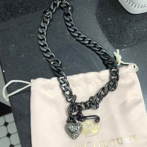 Juicy Couture Crystal Heart Necklace.